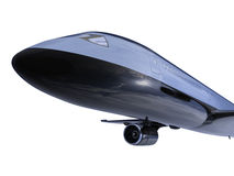 Black aircraft isolated view Royalty Free Stock Photography