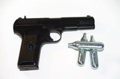 Black airgun. Model TT (1943 year) Royalty Free Stock Photos