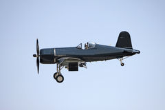 Black airplane. Up in the air at the show Royalty Free Stock Images
