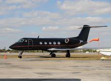 Black airplane Royalty Free Stock Photography