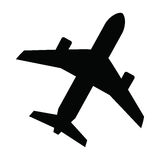 Black Airplane Royalty Free Stock Photos