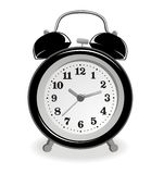 Black alarm-clock Stock Photo