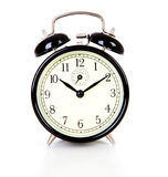 Black alarm clock Royalty Free Stock Image