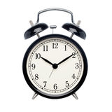 Black alarm clock Stock Images