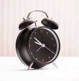 Black alarm clock Royalty Free Stock Photography