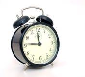 Black alarm clock. On white background Stock Photography