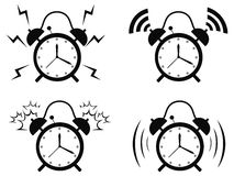 Black alarm clock icon Stock Photo