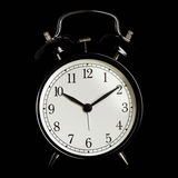Black alarm clock Stock Photography