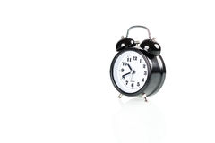 Black alarm clock Royalty Free Stock Photos