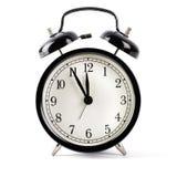 Black alarm clock Royalty Free Stock Photography
