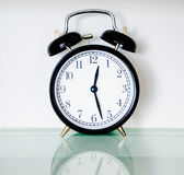 Black alarm clock Stock Photos