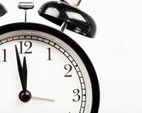 Black alarm clock Stock Photo