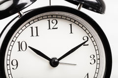 Black alarm clock Stock Image