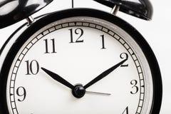Black alarm clock Stock Image