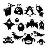 Black alien monster Stock Images