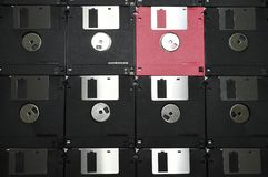 Aligned Floppy Diskettes Stock Image