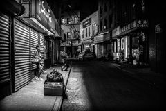 Black, Alley, Street, Black And White Royalty Free Stock Images