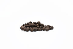 Black allspice. Allspice isolated on a white background stock photos