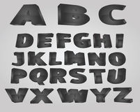 Black alphabet Stock Photos