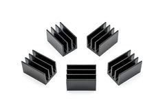 Black Aluminium heat sinks Stock Images