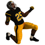 Black American Football Player. Black 3D American Football Player Royalty Free Stock Photos