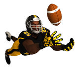 Black American Football Player. Black 3D American Football Player Stock Image