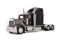 Black american truck. Isolated on white background Royalty Free Stock Photo