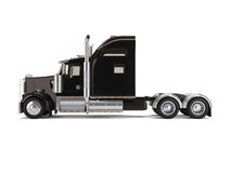 Black american truck. Isolated on white background Royalty Free Stock Image
