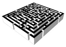 Black&While labirinth, hoogtepunt - mening Stock Fotografie