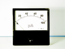 Black amperemeter on the table Royalty Free Stock Photo
