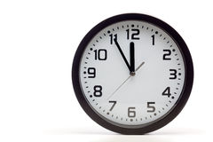 Black analog clock Royalty Free Stock Image