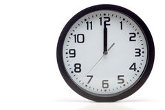 Black analog clock Stock Photography