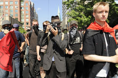 Black anarchists. Stock Images