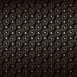Black And Gold Art Deco Seamless Pattern With Swirls. Luxury Decorative Ornament Royalty Free Stock Photos