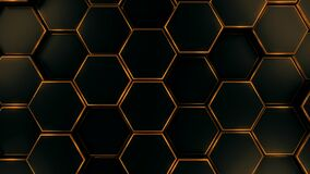 Free Black And Gold Hexagon Template Background Royalty Free Stock Photography - 181105027