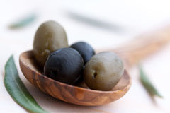 Black And Mixed Fresh Olives Royalty Free Stock Photo