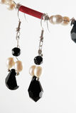 Black And Red Earrings Royalty Free Stock Images