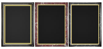 Black And Red Marble Plaque Collection Royalty Free Stock Images