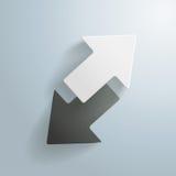 Black And White Arrows Stock Photo