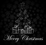 Black And White Christmas Card Stock Image