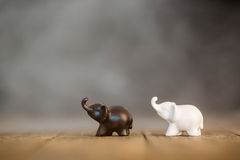 Black And White Elephant Model Stock Photography