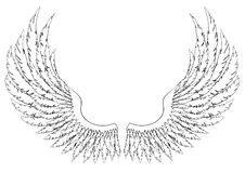 Free Black And White Hand-drawn Wings Stock Image - 188988141