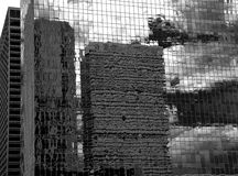 Free Black And White Houston Texas Downtown Mirror Buildings Stock Image - 34092201