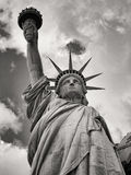 Black And White Image Of The Statue Of Liberty In New York Royalty Free Stock Photography