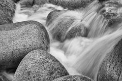 Free Black And White Image Of Water Flowing Over Rocks Royalty Free Stock Image - 30553526