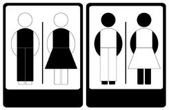 Black And White Male And Female Sign Royalty Free Stock Photo