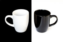 Black And White Mugs Stock Images