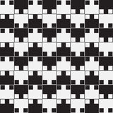 Black And White Optical Illusion, Vector Seamless Pattern. Stock Photos