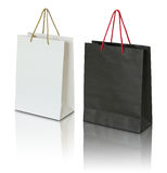 Black And White Paper Bag Stock Photos