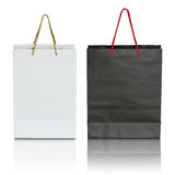 Black And White Paper Bag Royalty Free Stock Image